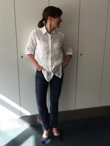 Leinenhemd weiss Burda 2/2016