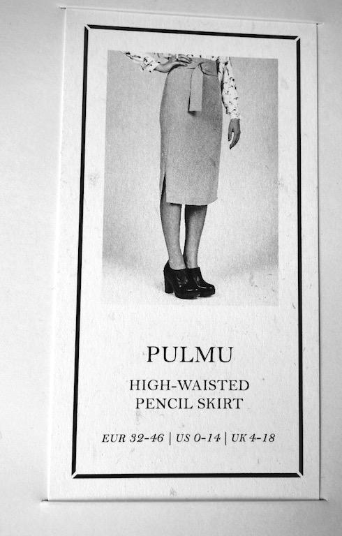 Schnittmusterumschlag; Pulmu; Pencil Skript