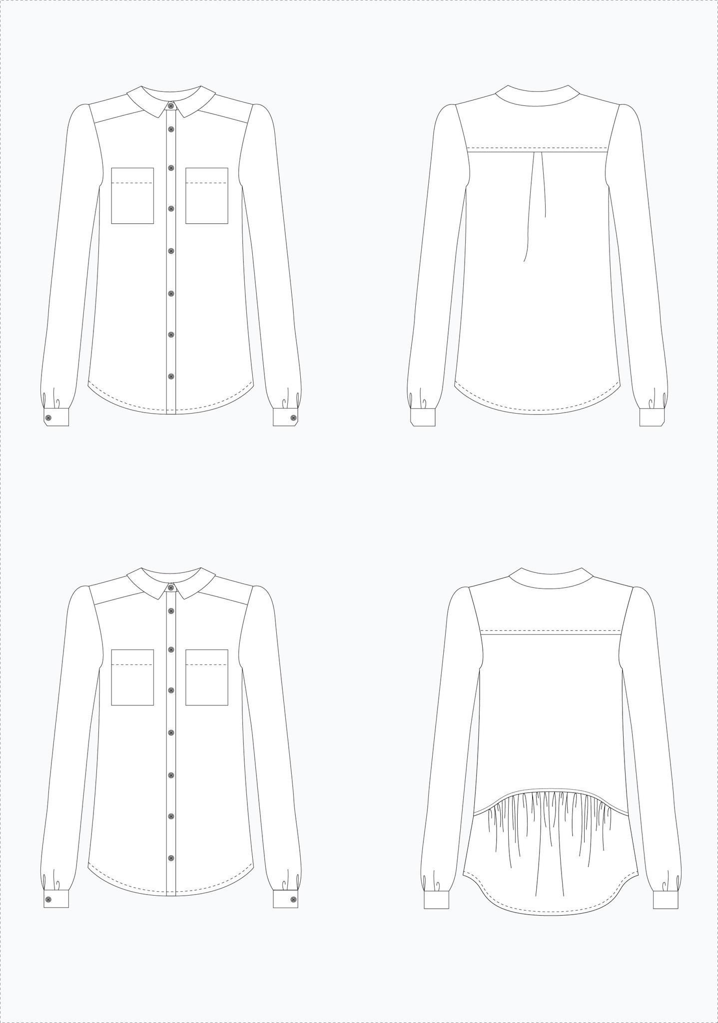 Schnittmuster Grainline Archer Shirt