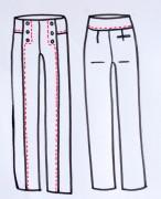 Technische Zeichung Pantalon Embrun