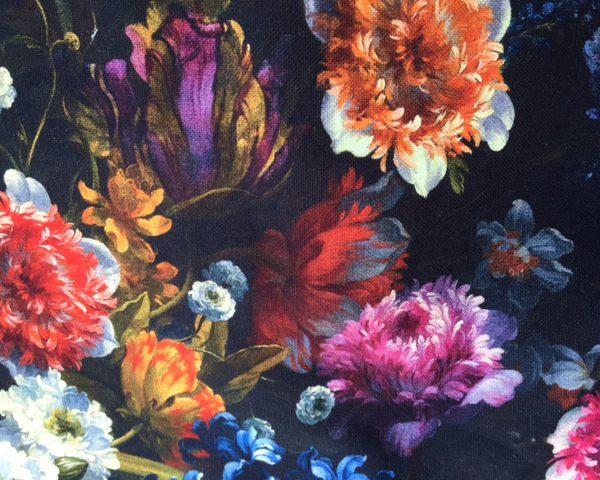 Baumwollstoff Digitaldruck Blumen
