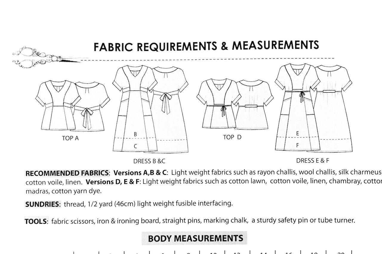 Schnittmusterzeichnung Tea Dress von Sew House Seven