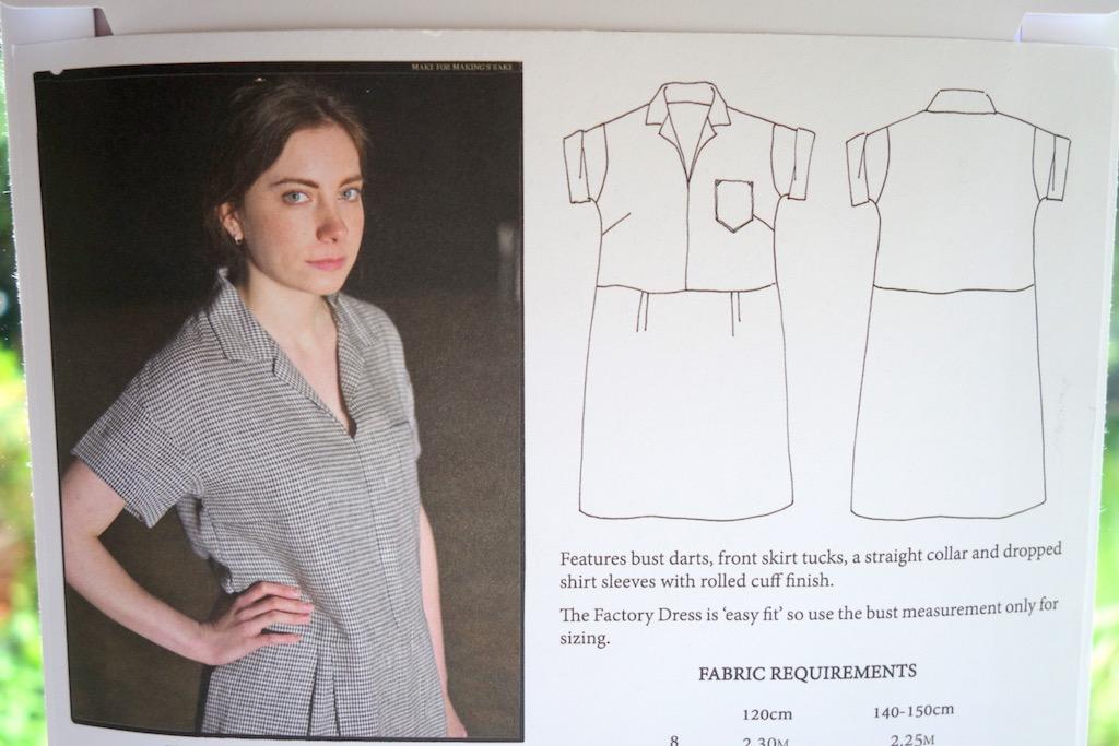 Merchant & Mills Factory Dress Schnittmusterzeichnung