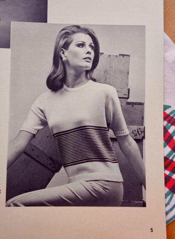 Kurzarmpullover von 1968, Anleitung aus Modellheft Passap 7