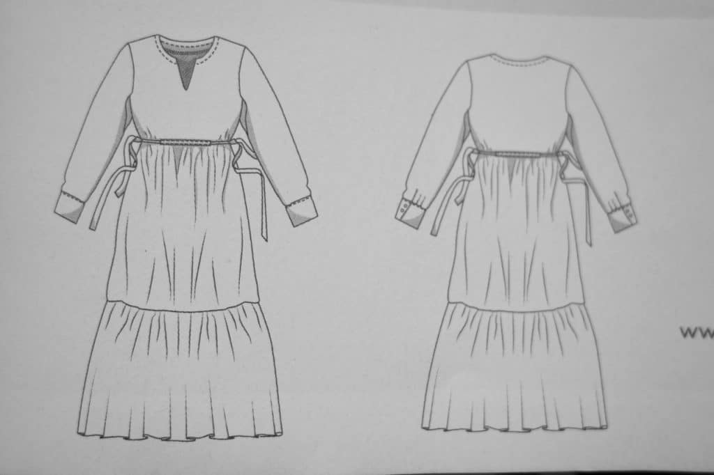 Schnittmusterzeichnung Kleid Pola Fibre Mood